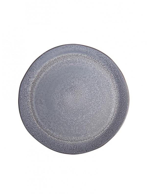 Assiette small bleu denim