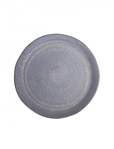 Assiette large bleu denim