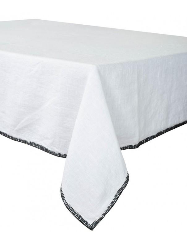 Serviette en lin blanc 41x41