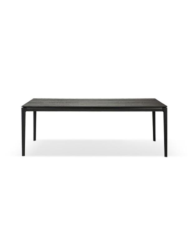 TABLE BOX EN CHENE NOIR VERNI