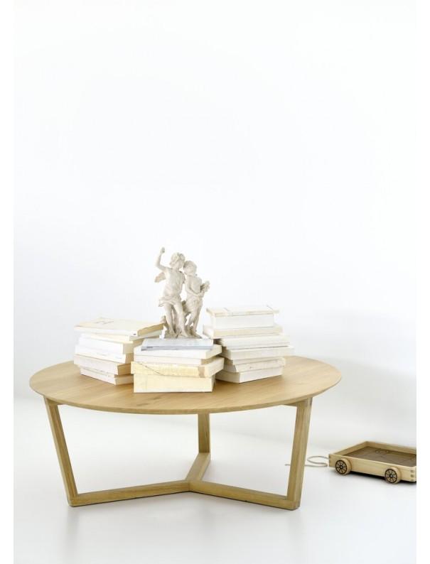 TABLE BASSE TRIPOD EN CHENE VERNI