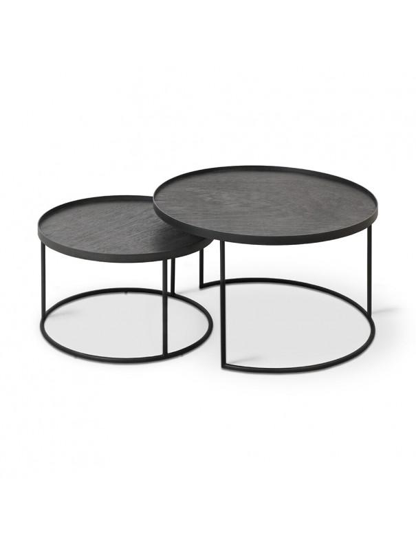 SET DE 2 TABLES BASSES RONDES S/L