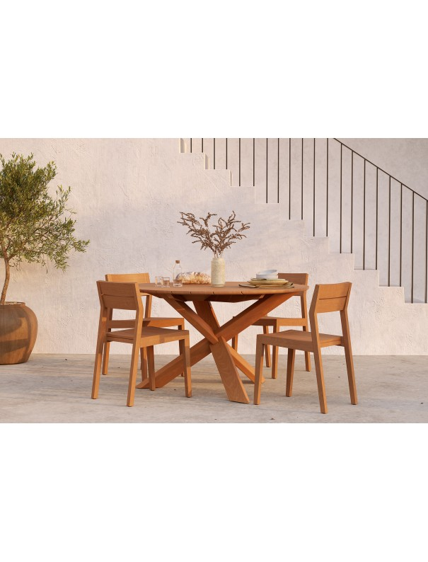 TABLE RONDE CIRCLE EN TECK