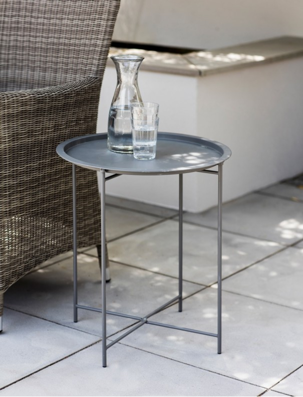 TABLE D'APPOINT PLIABLE GRIS ANTHRACITE