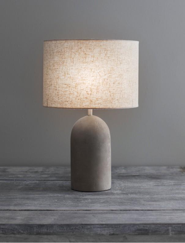Lampe de table béton