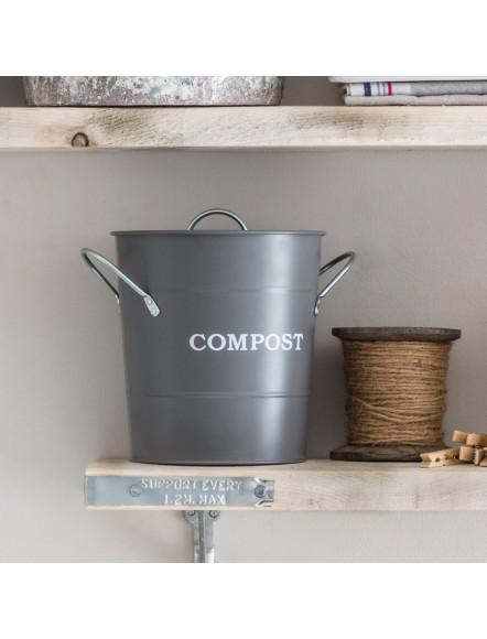 Seau compost gris 3,5L