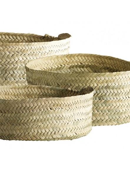 3 Paniers de rangement paille