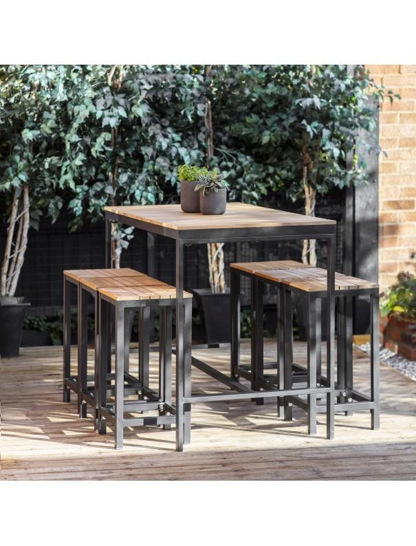 Table de bar & 6 tabourets