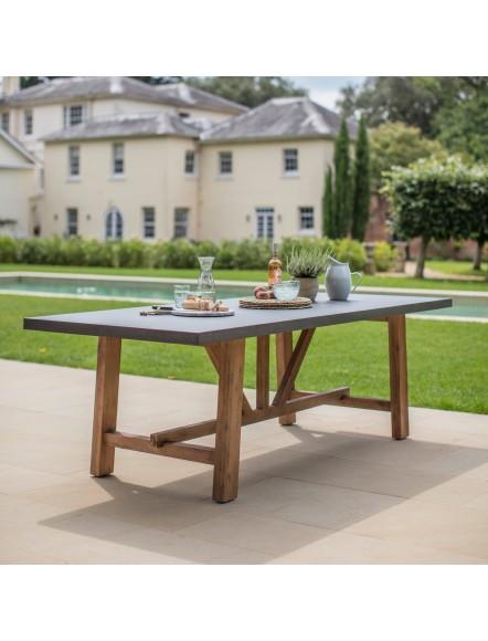Table Madic ciment & acacia GM