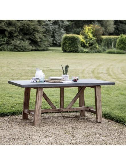 Table Madic ciment & acacia PM